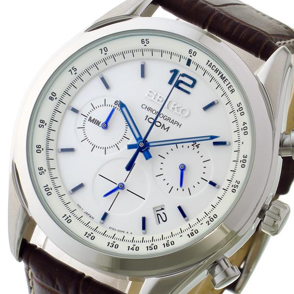 (~8 (~8/31)/31) セイコー SEIKO メンズ SEIKO クロノグラフ クオーツ 腕時計 SSB095P1 ホワイト メンズ, シルバーカーと車椅子の店YUA:2acf934e --- officewill.xsrv.jp