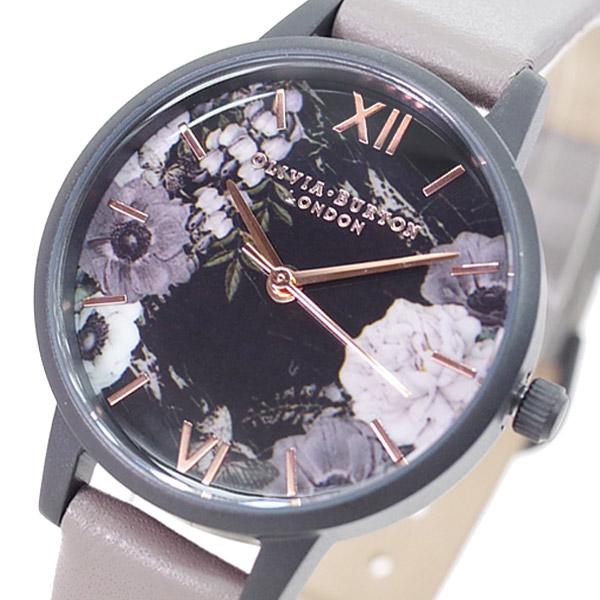【スーパーSALE】(~9/11 01:59)(~9/30)オリビアバートン OLIVIA BURTON 腕時計 OB16AD24 クォーツ ブラック グレー レディース
