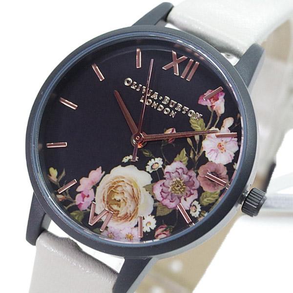 (~4/30)【キャッシュレス5%】オリビアバートン OLIVIA BURTON 腕時計 OB16AD30 クォーツ ブラック ベージュ レディース
