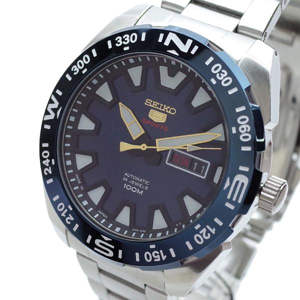 (~4/30)【キャッシュレス5%】セイコー SEIKO 腕時計 SRP747J1 SEIKO 5 SPORTS 自動巻き ブルー シルバー メンズ