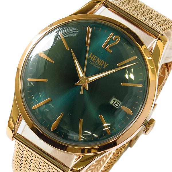 (~8/31) ヘンリーロンドン HENRY LONDON HL39M0136 ストラトフォード 腕時計 STRATFORD 38mm HENRY 腕時計 HL39M0136 グリーン/ピンクゴールド レディース, 空手瓦:3d830c3b --- officewill.xsrv.jp