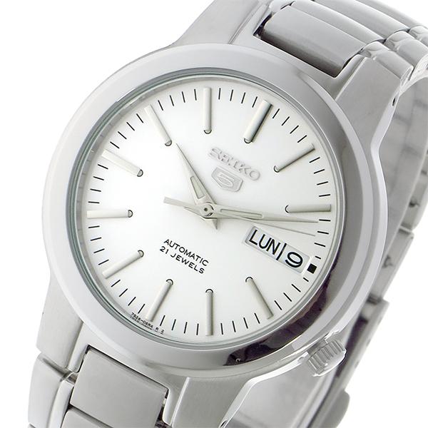 (~4/30)【キャッシュレス5%】セイコー SEIKO セイコー5 SEIKO 5 自動巻き 腕時計 SNKA01K1 ホワイト メンズ