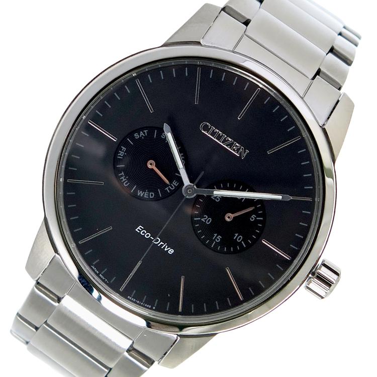 (~4/30)【キャッシュレス5%】シチズン CITIZEN エコ・ドライブ クオーツ 腕時計 AO9040-52E ブラック メンズ