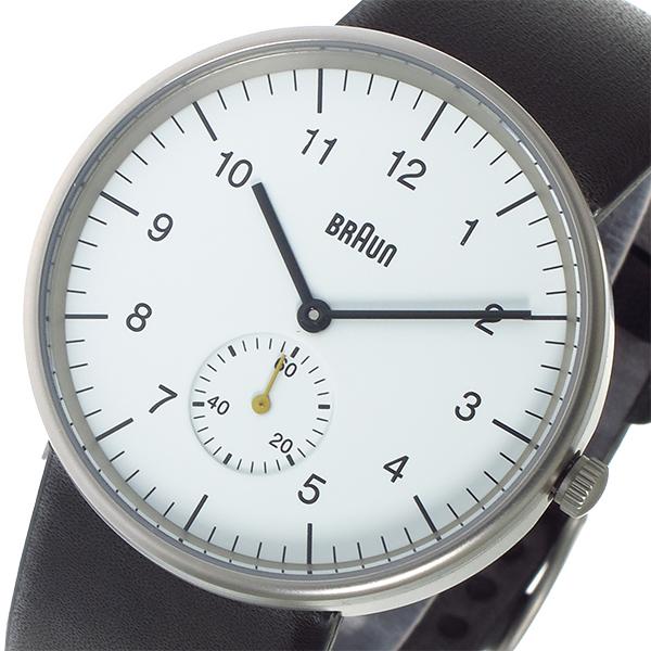 (~4/30)【キャッシュレス5%】ブラウン BRAUN クオーツ 腕時計 BN0024WHBKG ホワイト メンズ