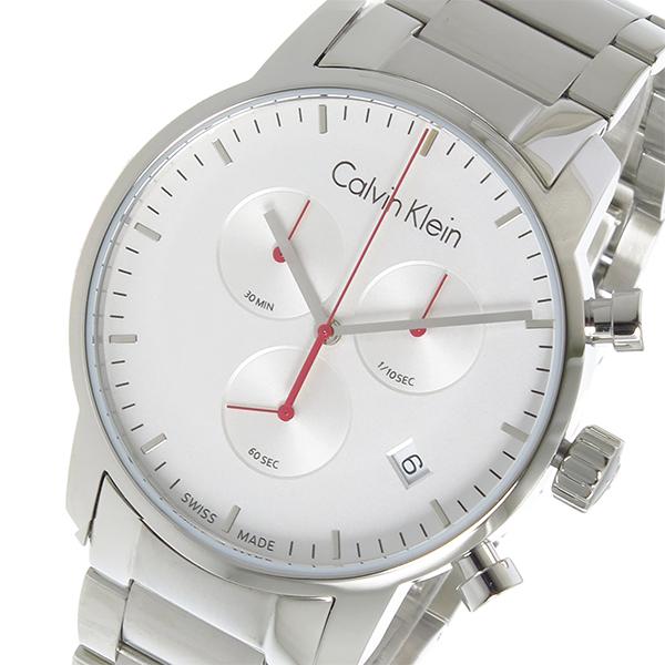 (~4/30)【キャッシュレス5%】カルバン クライン CALVIN KLEIN クオーツ 腕時計 K2G271Z6 シルバー メンズ