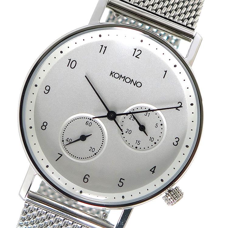 (~8 KOMONO/31) コモノ KOMONO クオーツ 腕時計 (~8/31) KOM-W4020 メンズ ホワイト メンズ, EASY FIT STYLE:5e4f00bf --- officewill.xsrv.jp