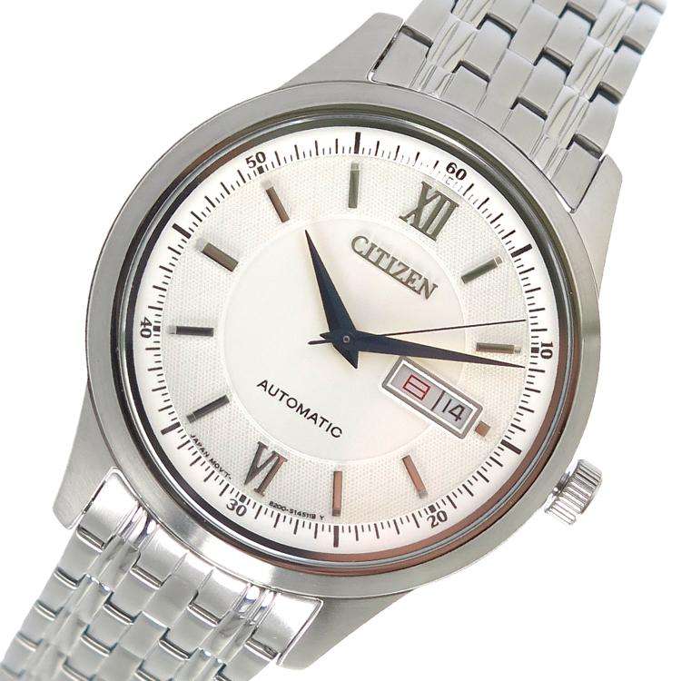 【スーパーSALE】(~9/11 01:59)(~9/30)シチズン CITIZEN 自動巻き 腕時計 NY4051-51A ホワイト メンズ