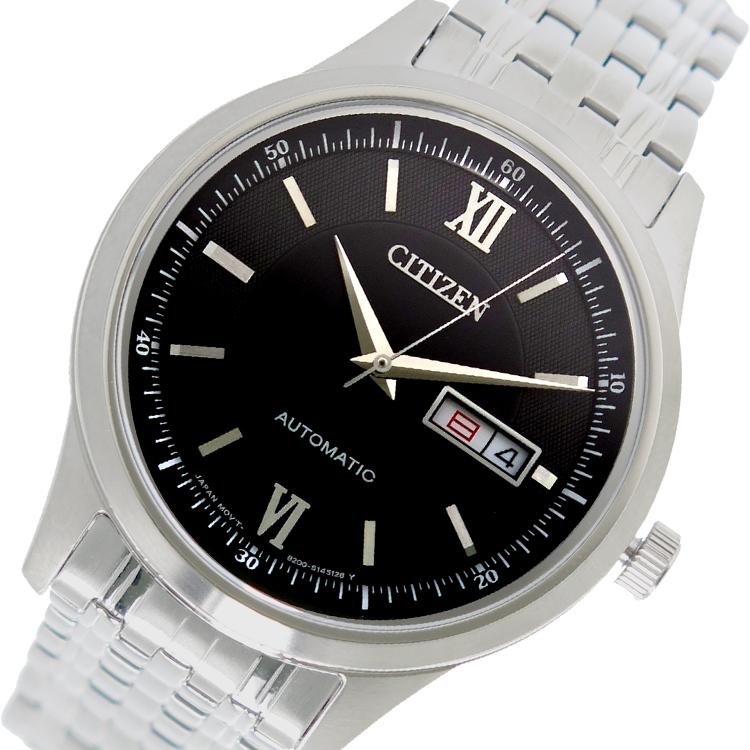 (~8 NY4051-51E/31) シチズン CITIZEN 自動巻き 腕時計 NY4051-51E (~8/31) ブラック メンズ メンズ, deco&styleらくだ館:4ed78e1b --- officewill.xsrv.jp