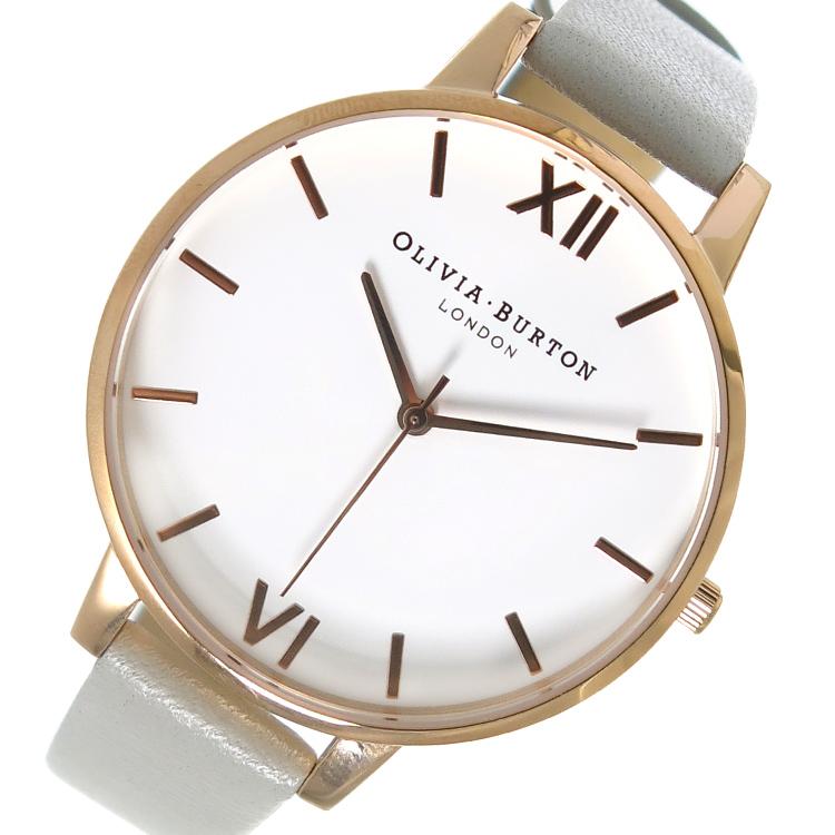 【スーパーSALE】(~9/11 01:59)(~9/30)オリビアバートン OLIVIA BURTON 腕時計 OB15BDW02 ホワイト×グレー レディース