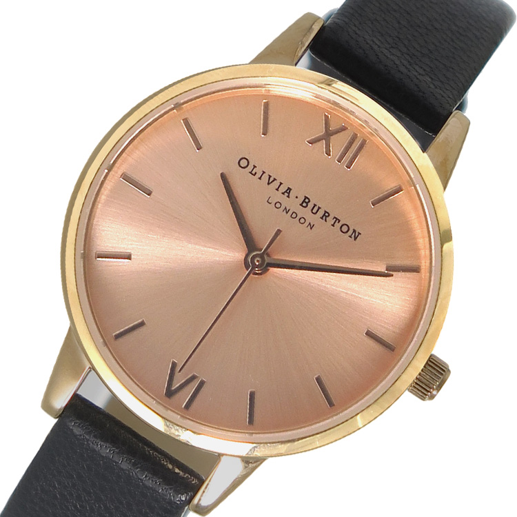 (~8/31) オリビアバートン OLIVIA OLIVIA BURTON OB15MD39 腕時計 OB15MD39 ピンクゴールド×ブラック BURTON レディース, ミリオンSHOP:adff038b --- officewill.xsrv.jp