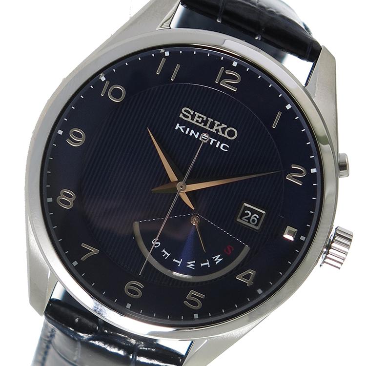 (~8 クオーツ/31) キネティック セイコー SEIKO キネティック クオーツ 腕時計 SRN061P1ネイビー メンズ/ブラック メンズ, MOVE:0c2014f0 --- officewill.xsrv.jp