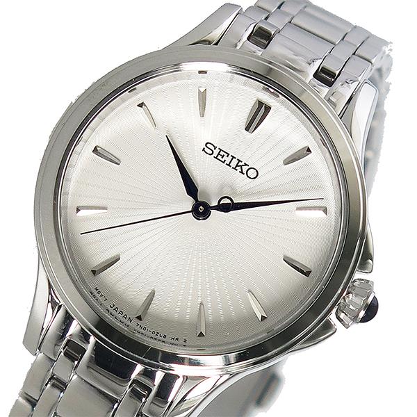(~4/30)【キャッシュレス5%】セイコー SEIKO クオーツ 腕時計 SRZ491P1 ホワイト レディース