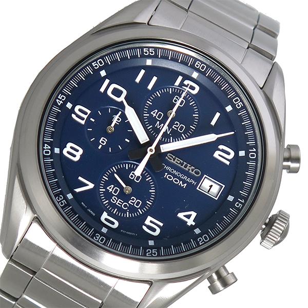 (~4/30)【キャッシュレス5%】セイコー SEIKO クオーツ 腕時計 SSB267P1 ネイビー メンズ
