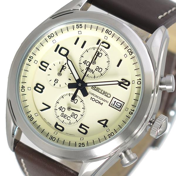 (~4/30)【キャッシュレス5%】セイコー SEIKO クオーツ 腕時計 SSB273P1 アイボリー メンズ