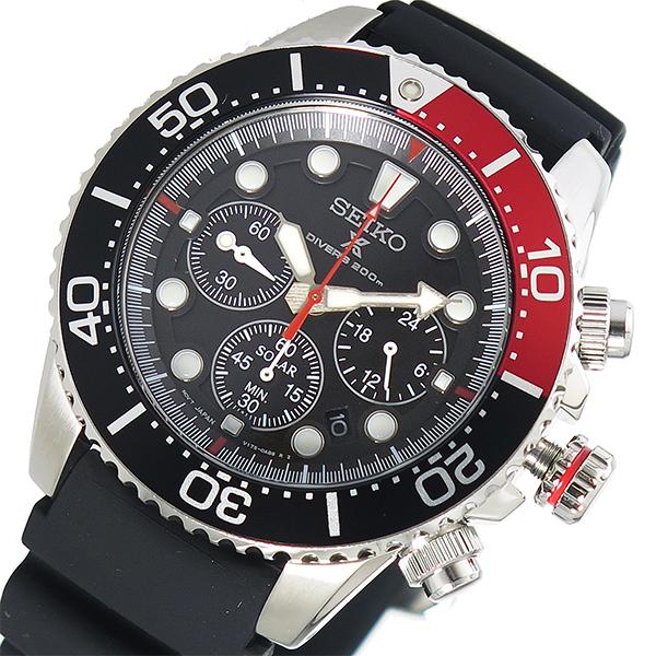 【スーパーSALExポイントアップ】(3/4 20:00~3/11 01:59)【ポイント2倍】(~3/31)【キャッシュレス5%】セイコー SEIKO プロスペックス PROSPEX クオーツ 腕時計 SSC617P1 ブラック メンズ
