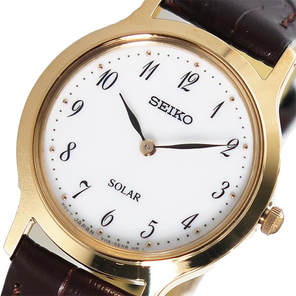 (~4/30)【キャッシュレス5%】セイコー SEIKO クオーツ 腕時計 SUP372P1 ホワイト レディース