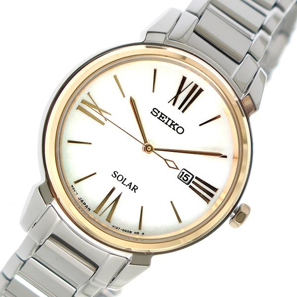【スーパーSALE】(~9/11 01:59)(~9/30)セイコー SEIKO ソーラー 腕時計 SUT326P1 シェル レディース