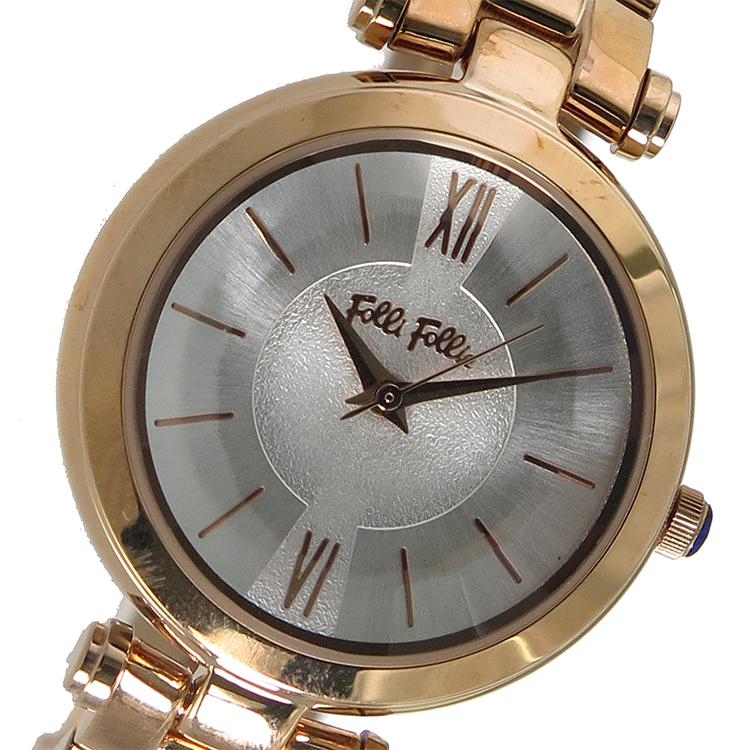 【スーパーSALE】(~9/11 01:59)(~9/30)フォリフォリ FOLLI FOLLIE クオーツ 腕時計 WF16R009BPS シルバー レディース