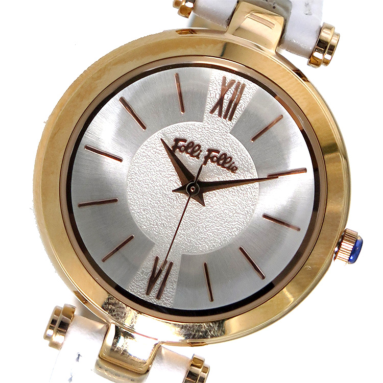 (~8 (~8/31)/31) 腕時計 フォリフォリ FOLLI FOLLIE クオーツ 腕時計 FOLLIE WF16R009SPS-WH シルバー レディース, Gain-Mart:3f770446 --- officewill.xsrv.jp