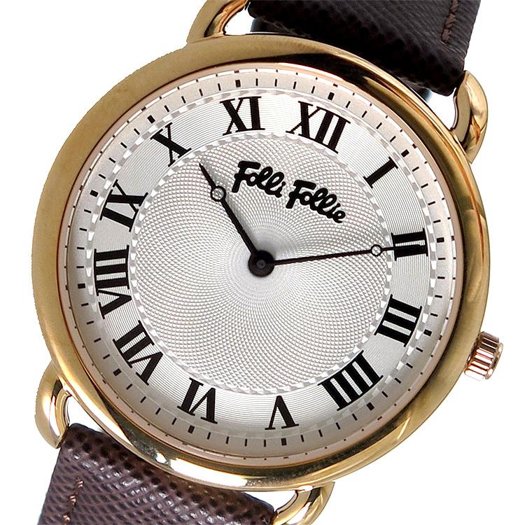 (~8/31) フォリフォリ FOLLI FOLLIE FOLLIE クオーツ FOLLI クオーツ 腕時計 WF16R013SPS-BR シルバー レディース, ベクトル津山上河原店:c073211d --- officewill.xsrv.jp