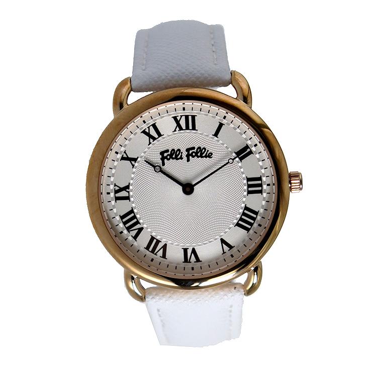 【ポイント2倍】(~4/30 23:59) フォリフォリ FOLLI FOLLIE クオーツ 腕時計 WF16R013SPS-WH シルバー レディース