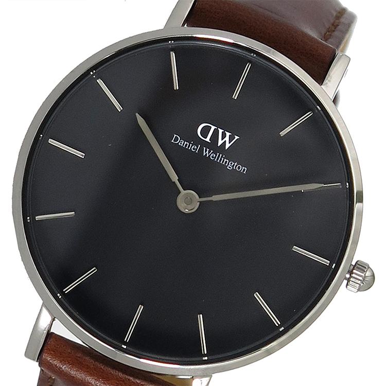 【スーパーSALE】(~9/11 01:59)(~9/30)ダニエルウェリントン Daniel Wellington クラシック ペティート クオーツ 腕時計 DW00100181 ブラック レディース