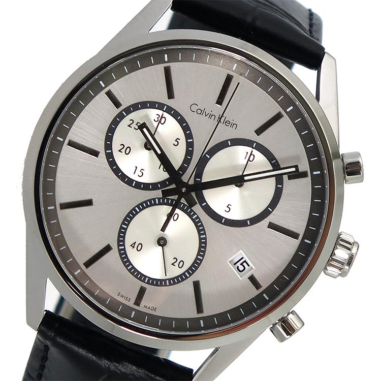(~8/31) カルバンクライン CALVIN CALVIN KLEIN クオーツ クロノグラフ クオーツ 腕時計 (~8/31) K4M271C6 シルバー メンズ, サンホームショッピング:af757b96 --- officewill.xsrv.jp