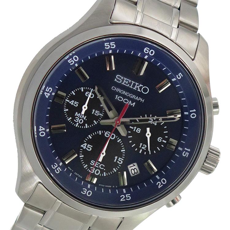 (~8 セイコー/31) セイコー SEIKO クオーツ 腕時計 ネイビー SKS585P1 クオーツ ネイビー メンズ, 茶々VARGE:770f2bbc --- officewill.xsrv.jp