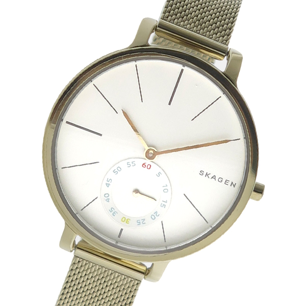 (~4/30)【キャッシュレス5%】スカーゲン SKAGEN クオーツ 腕時計 SKW2436 シルバー レディース