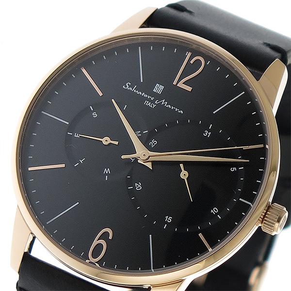 (~8/31) サルバトーレマーラ MARRA SALVATORE MARRA クオーツ メンズ 腕時計 SM18105-PGBK SM18105-PGBK ブラック メンズ, チャイルドヴィーイクルズ:b03fe006 --- officewill.xsrv.jp