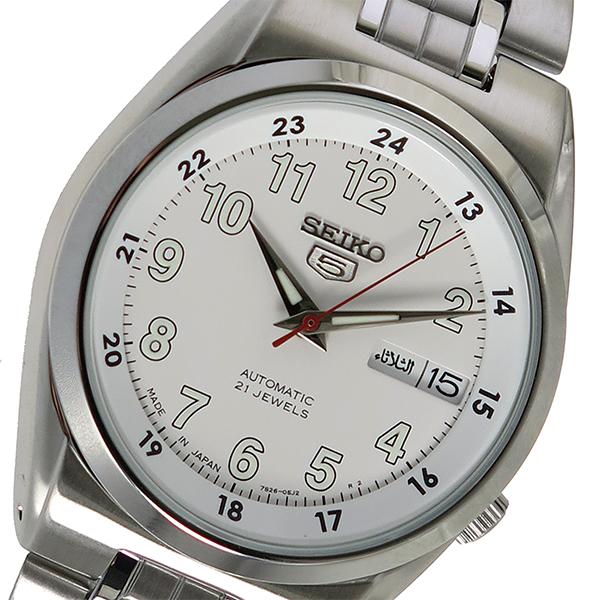 セイコー SEIKO 自動巻き 腕時計 SNK579J1 ホワイト メンズ