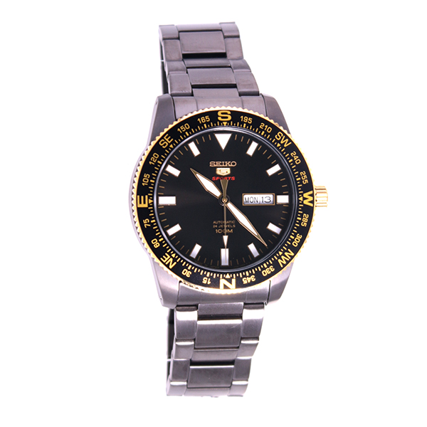 【期間限定】【エントリーでポイント3倍×ポイントアップ2倍】(7/21 10:00~7/24 09:59) セイコー SEIKO 5スポーツ 自動巻き 腕時計 SRP670J1 ブラック メンズ