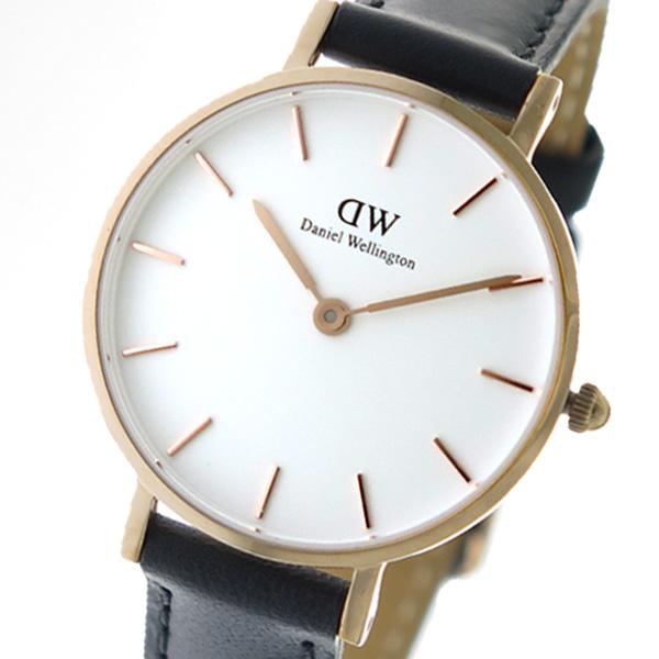 (~8/31) ダニエル ウェリントン Daniel Wellington ウェリントン Wellington クラッシックペティット クオーツ 腕時計 腕時計 DW00100230 ホワイト/ブラック レディース, ゴルフショップ ゼロステーション:bb6542f5 --- officewill.xsrv.jp