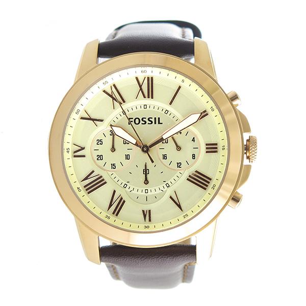 【お買い物マラソンxポイントアップ 】(~3/26 01:59) フォッシル FOSSIL クオーツ 腕時計 FS4991 アイボリー メンズ