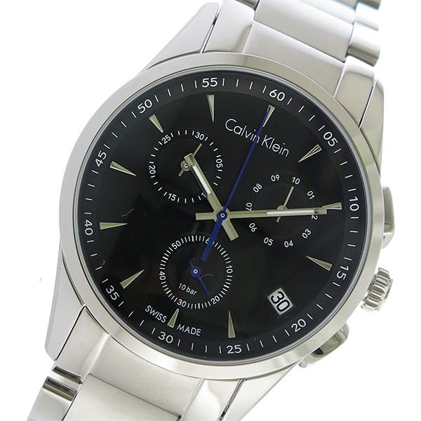 (~4/30)【キャッシュレス5%】カルバンクライン Calvin Klein クロノグラフ クオーツ 腕時計 K5A27141 ブラック メンズ