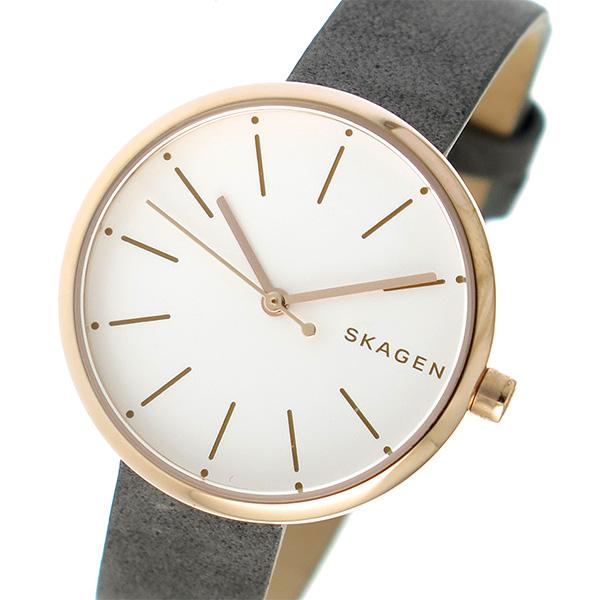 【スーパーSALE】(~9/11 01:59)(~9/30)スカーゲン SKAGEN シグネチャー SIGNATUR クオーツ 腕時計 SKW2644 パールホワイト レディース