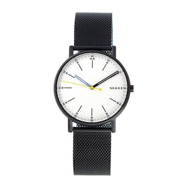 【期間限定】【エントリーでポイント3倍×ポイントアップ2倍】(7/21 10:00~7/24 09:59) スカーゲン SKAGEN シグネチャー SIGNATUR クオーツ 腕時計 SKW6376 パールホワイト メンズ