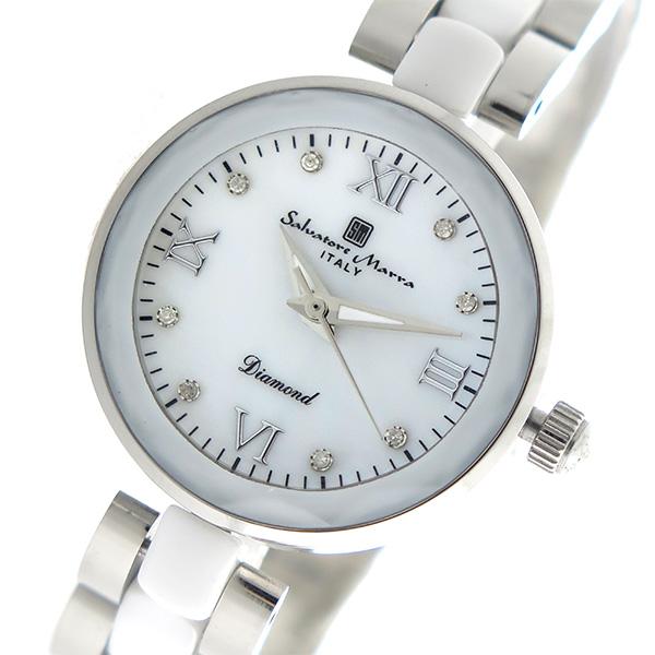 (~8/31) SM17153-SSWHR サルバトーレマーラ SALVATORE MARRA クオーツ クオーツ 腕時計 腕時計 SM17153-SSWHR ホワイトシェル レディース, 上津江村:3b18e666 --- officewill.xsrv.jp