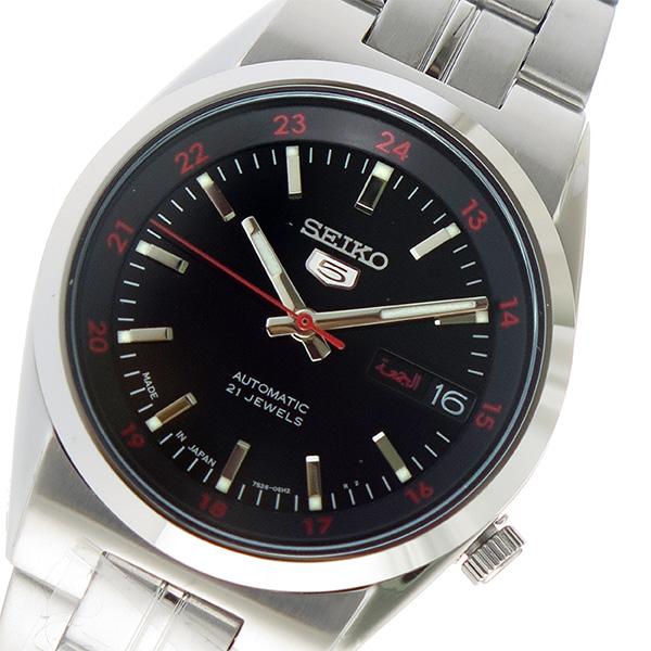 (~8/31) SEIKO セイコー ブラック SEIKO セイコー5 自動巻き 腕時計 セイコー SNK569J1 ブラック ユニセックス, ヴィヴォスタイル:2f8dfe3e --- officewill.xsrv.jp