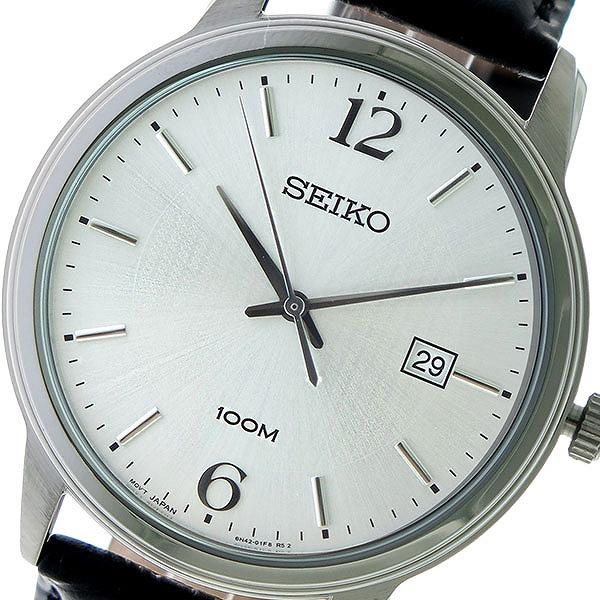 セイコー SEIKO クオーツ 腕時計 SUR265P1 シルバー/ブラック メンズ