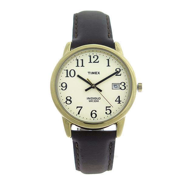 【ポイント2倍】(~4/30 23:59) タイメックス TIMEX イージーリーダー EASY READER クオーツ 腕時計 T2N369 アイボリー/ブラウン ユニセックス