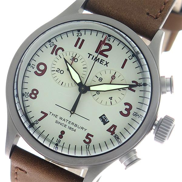 (~8/31) タイメックス TIMEX (~8/31) ウォーターベリー Waterbury クロノ メンズ クオーツ 腕時計 腕時計 TW2R38300 グレー/ブラウン メンズ, 彩雲堂:3c1ae1ce --- officewill.xsrv.jp