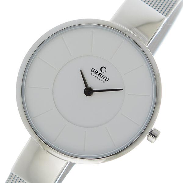 【スーパーSALE】(~9/11 01:59)(~9/30)オバク OBAKU クオーツ 腕時計 V149LXCIMC ホワイト ユニセックス