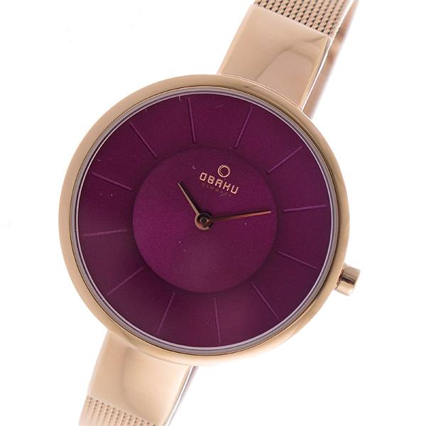 オバク OBAKU クオーツ 腕時計 V149LXVQMV パープル レディース