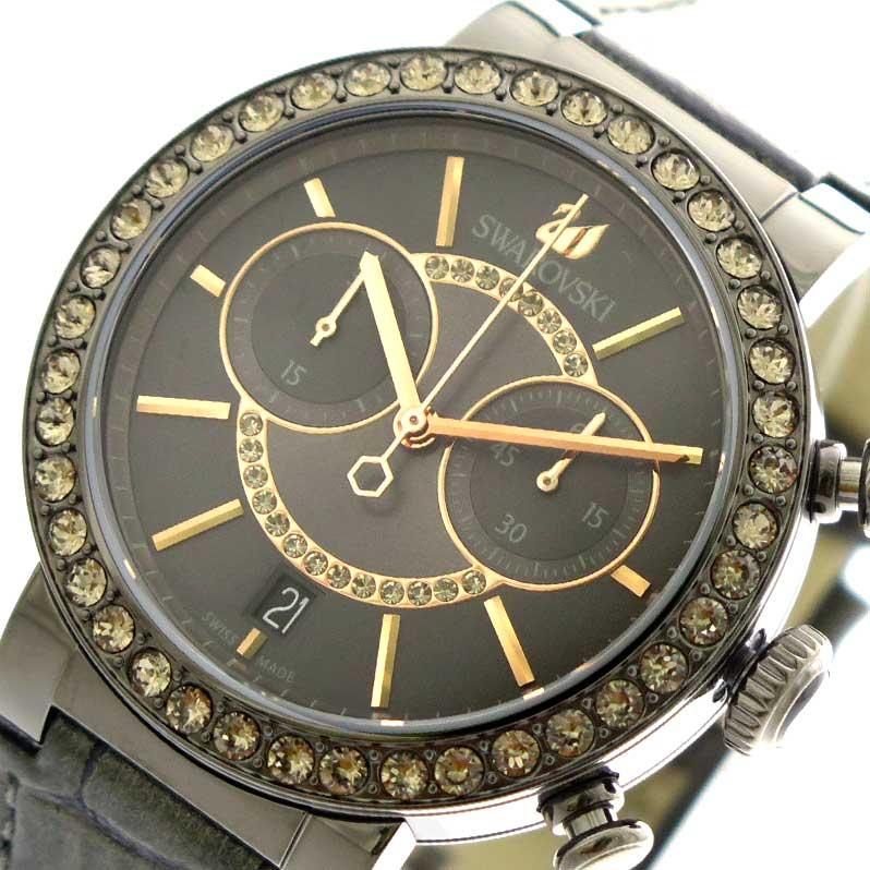 (~8 クォーツ/31) スワロフスキー レディース SWAROVSKI 腕時計 5122040 クォーツ グレージュ ガンメタ ダークグレー ダークグレー レディース, スポーツハウス:93c6151b --- officewill.xsrv.jp