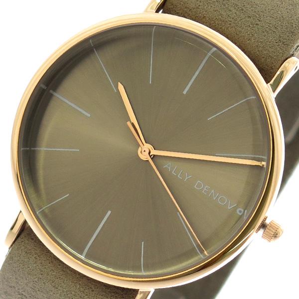 【スーパーSALE】(~9/11 01:59)(~9/30)アリーデノヴォ ALLY DENOVO 腕時計 36mm AF5009-3 HERITAGE クォーツ グレーカーキ レディース