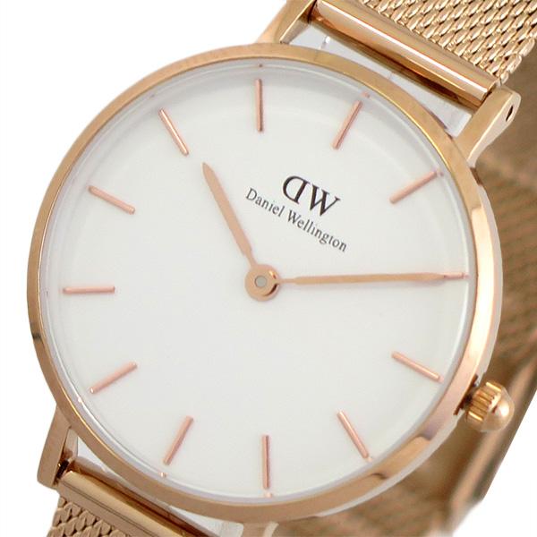 【スーパーSALE】(~9/11 01:59)(~9/30)ダニエルウェリントン DANIEL WELLINGTON 腕時計 DW00100219 クォーツ ホワイト ピンクゴールド レディース