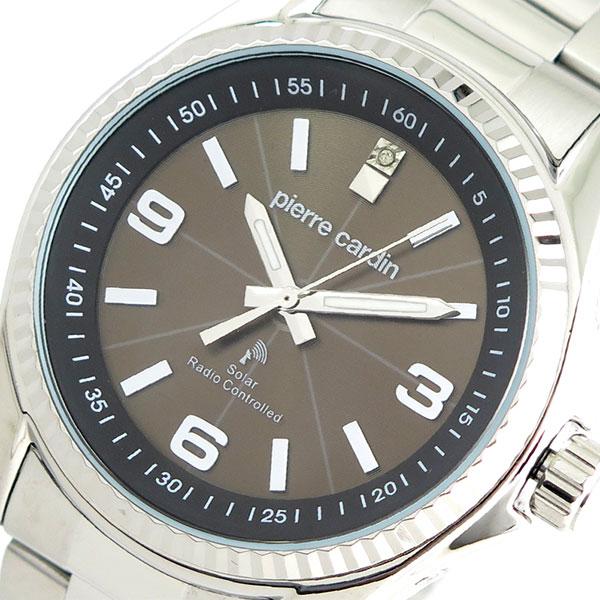 【お買い物マラソンxポイントアップ 】(~3/26 01:59) ピエールカルダン PIERRE CARDIN 腕時計 PC-790 クォーツ ソーラー電波時計 ブラウン シルバー メンズ