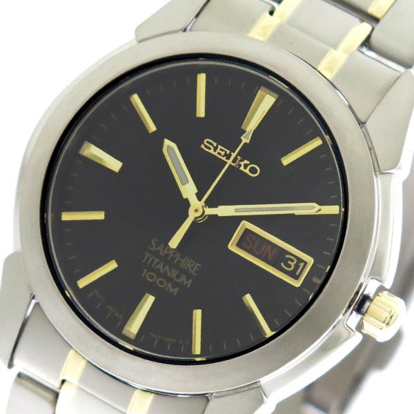 【スーパーSALE】(~9/11 01:59)(~9/30)セイコー SEIKO 腕時計 SGG735P1 クォーツ ブラック シルバーゴールド メンズ