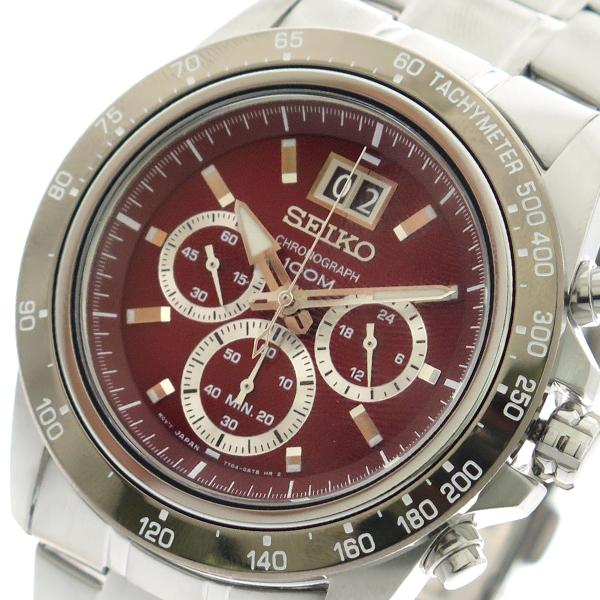(~8/31) セイコー (~8/31) SEIKO 腕時計 SPC243P1 SEIKO クォーツ レッド クォーツ シルバー メンズ, ミヤジマチョウ:89459d0a --- officewill.xsrv.jp